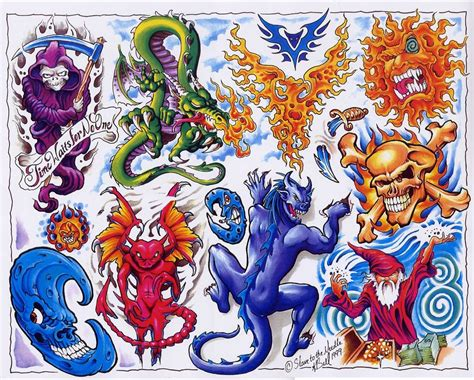 tattoo flash art sheets tattoo flash sheets line art color blackwhite full sheets