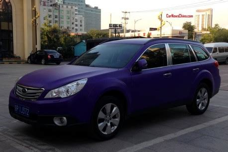 purple subaru outback subaru outback is matte purple in china carnewschina com