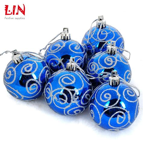 popular blue silver christmas tree ornaments buy cheap