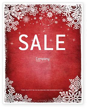 christmas theme sale poster template in microsoft word