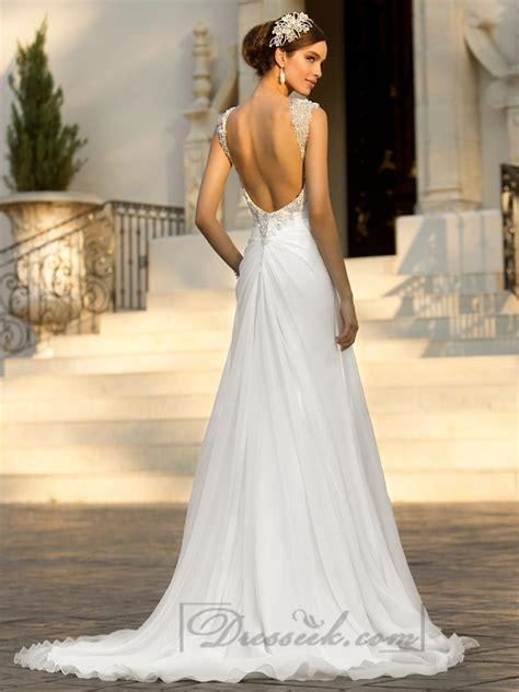 beaded cap sleeves sweetheart   simple wedding dresses   open   weddbook