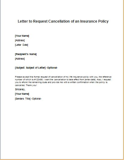 cancellation letter model health insurance cancellation letter sle cover letter