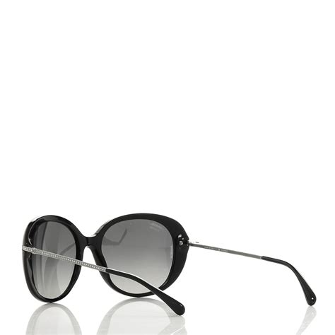chanel acetate cc sunglasses 5293 b black 187269