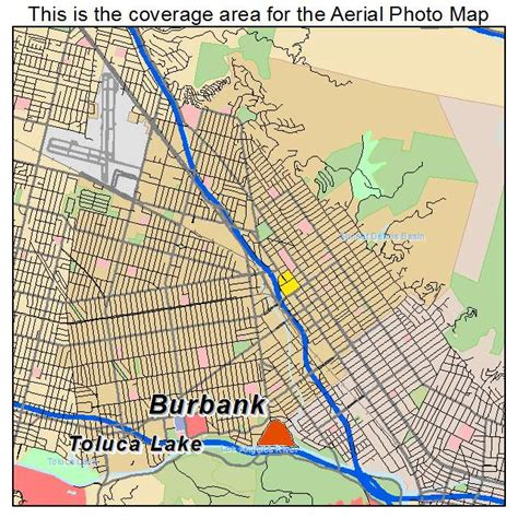 california map burbank aerial photography map of burbank ca california