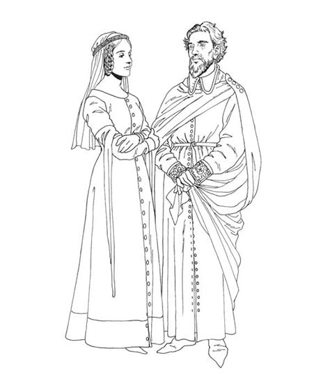free coloring pages king and queen middle ages king and queen history coloring pages