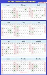 Sri Lanka Calendã 2018 2016 Sri Lanka Calendar 2016 Sri Lankan Holidays