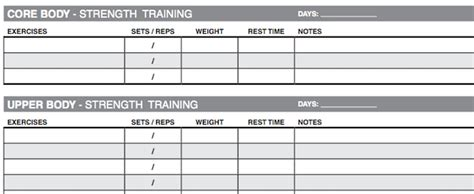 program card fitness template 10 excel templates to track your health and fitness