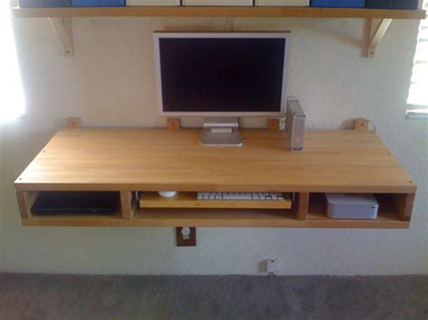diy floating desk with drawers diy project make your own floating computer desk using