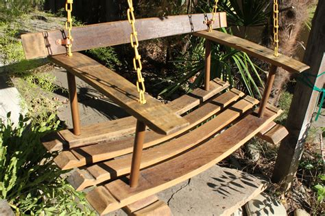 wine barrel swing french wine barrel stave porch swing hand made by