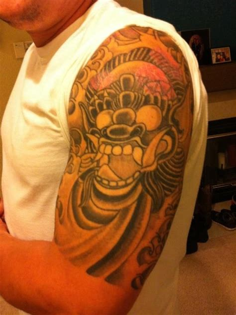 tattoos of barong barong ket balinese folklore tattoo props to khal b