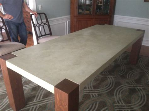 make a table for your dining room sidetracked sarah tables of concrete