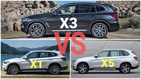 bmw x1 vs bmw x3 2018 bmw x3 vs bmw x1 vs bmw x5