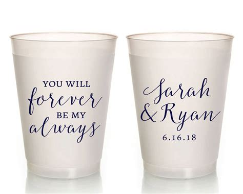 Wedding Favors Cups by Frosted Wedding Cups Wedding Favors Pretty Wedding Cups