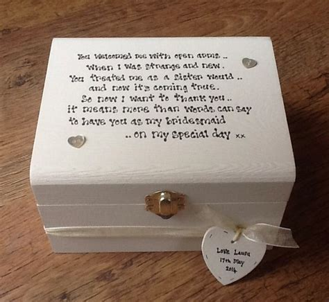 Bridesmaid Sister To Be Sister In Law Wedding Gift Box