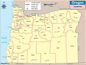 map of oregon by county oregon counties and county seats map by maps from maps