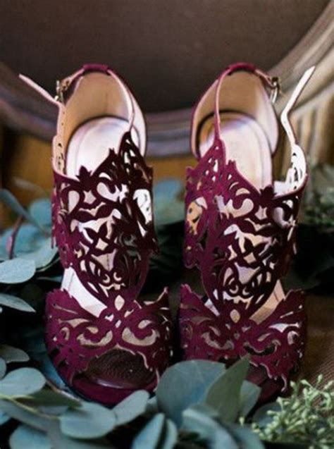 Burgundy Wedding Shoes shoes burgundy laser cut wedding shoes wheretoget