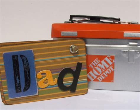 Tool Box Gift Card Holder - birthday gift for dad mini tool box scrapbook gift card holder