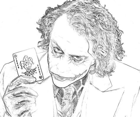 printable coloring pages joker joker coloring pages from batman coloring home