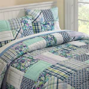 boho patchwork quilt sham contemporary bedding