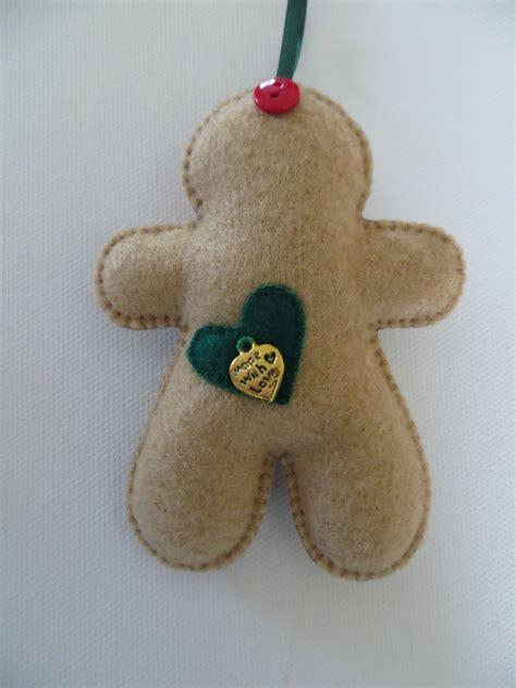 tree felt ornaments small felt tree gingerbread ornament felt