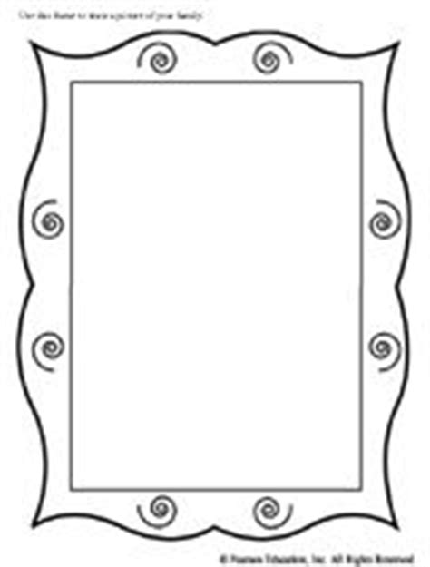 frame outline template printable picture frames templates your own picture