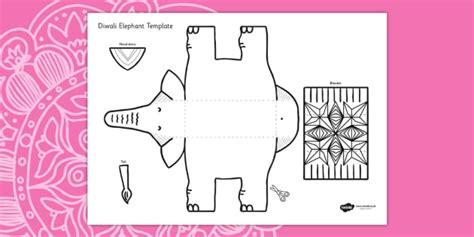 cutout template diwali elephant cutout template diwali elephant cutout