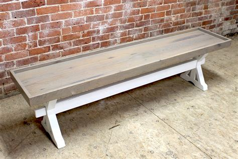 driftwood benches driftwood trestle bench ecustomfinishes