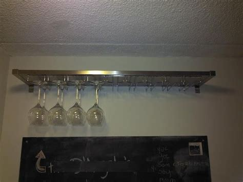 Ikea Wine Glass Rack by Ikea Hacked Ekby Mossby Wine Glass Hanger All