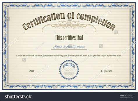 illustrator certificate template illustration of certificate template with floral frame