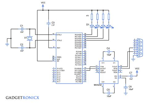 serial interrupt programming in 8051 microcontroller