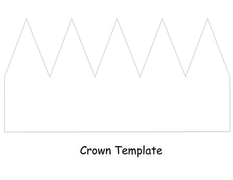 template of a crown crown template