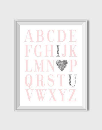 printable alphabet letters nursery abc print nursery printable wall art alphabet print pink