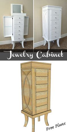 diy jewelry armoire plans free diy furniture plans to build a tall jewelry armoire