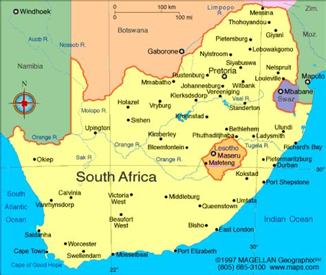 south africa map atlas south africa