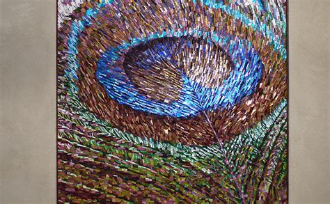 mosaic pattern peacock peacock feather mosaic bradley basso studio