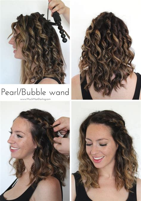 easy hairstyles curling iron bombay hair s 5 in 1 curling wand easy braided
