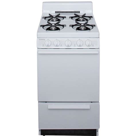 Oven Racks Lowes by Shop Freestanding 2 4 Cu Ft Gas Range White Common 20 In Actual 20 125 In At