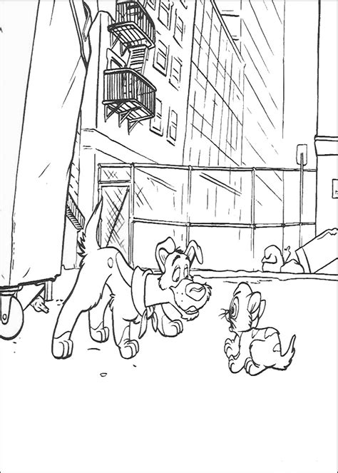 coloring book printing companies oliver and company coloring pages