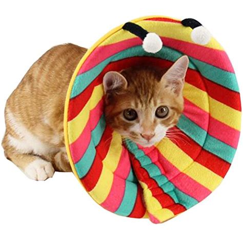 soft e collar for dogs bolbove colorful stripes pet soft stylish cone recovery e collar for dogs cats