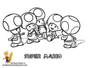 mario toad 3d colouring pages