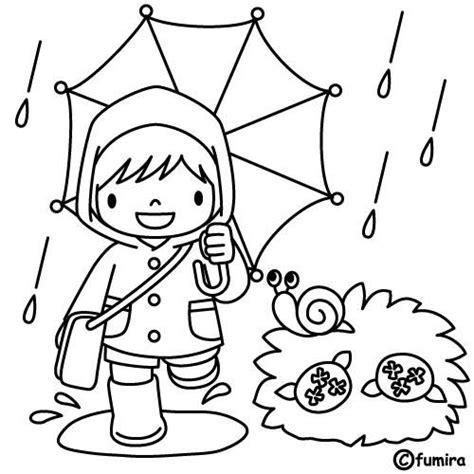 imagenes de invierno con lluvia bajo la lluvia dibujalia dibujos para colorear