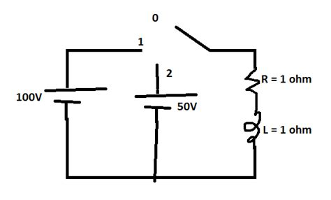 current through inductor dc circuit find current in circuit dc rl circuit with switch physics forums the fusion of science and