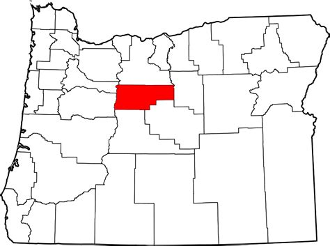 map of jefferson oregon file map of oregon highlighting jefferson county svg