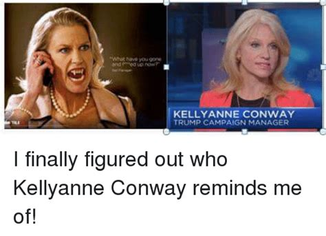 Kellyanne Conway Memes - and edup now kelly anne conway trump campaign manager i finally figured out who kellyanne conway