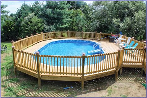 How To Decorate An Above Ground Pool by Above Ground Pool Deck Plans Pictures Decks Home