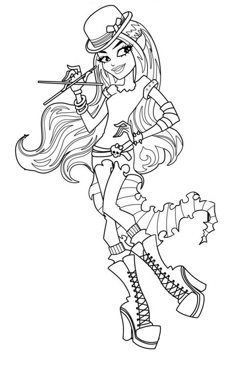monster high coloring pages all characters coloring home