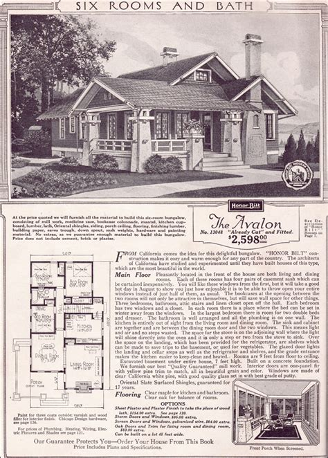 sears house plans avalon 1923 sears kit houses california bungalow