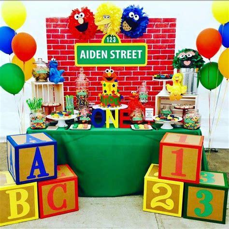 birthday themes sesame street custom sesame street birthday party backdrop sesame