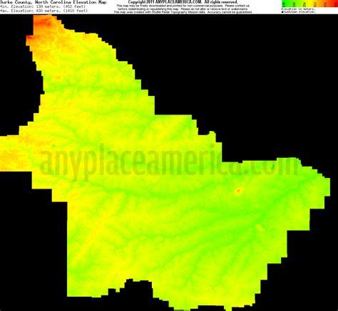 carolina elevation map free burke county carolina topo maps elevations