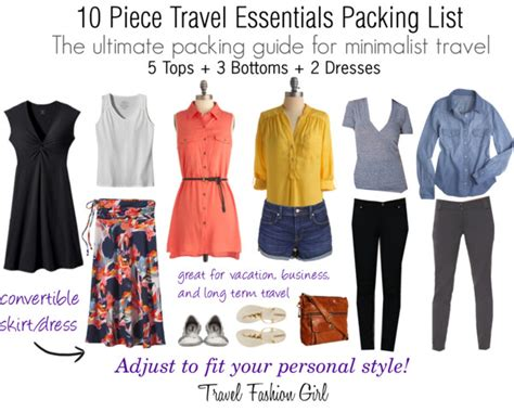 Travel Wardrobe Essentials by Travel Essentials Packing List 2013 Travel